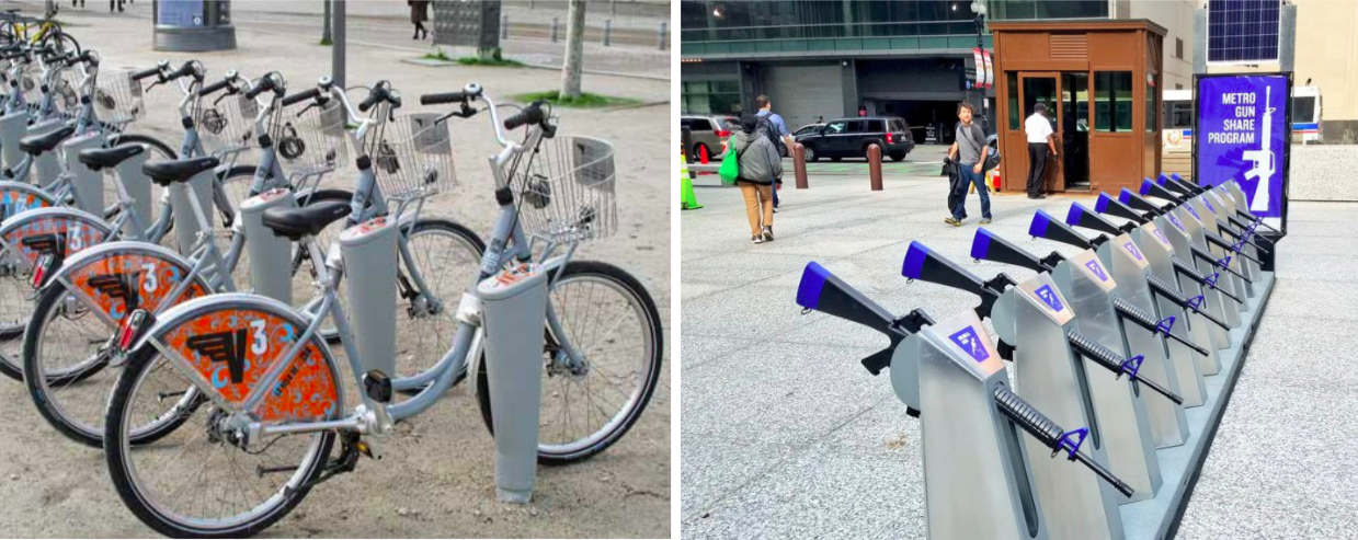 L'actu insolite du jour : après les vélos, les fusils en libre-service !