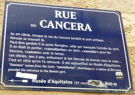 Au détour d'une rue bordelaise #40: la rue Cancera