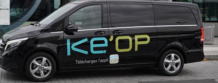 KEOLIS lance KE'OP, premier service de navettes partagées à la demande