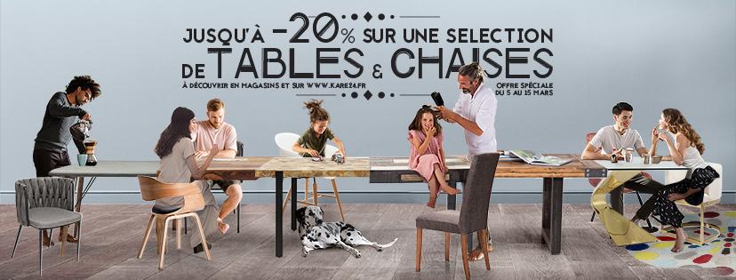Tables et chaises : choisissez la bonne assise dans votre magasin KARE !
